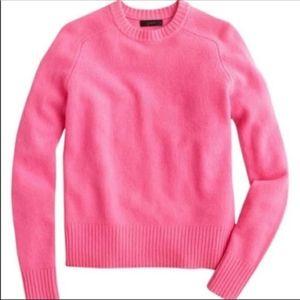 NWOT J.Crew Pink Neon Sweater
